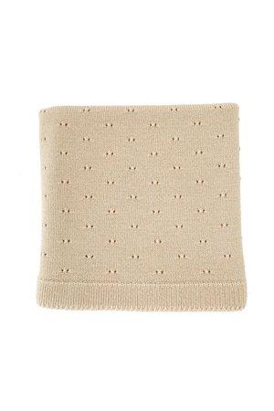 Hvid Blanket Bibi - oat