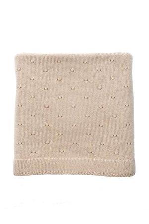 Hvid Blanket Bibi - apricot