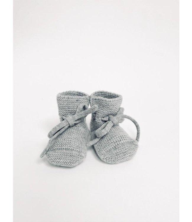 Hvid Booties - grey melange