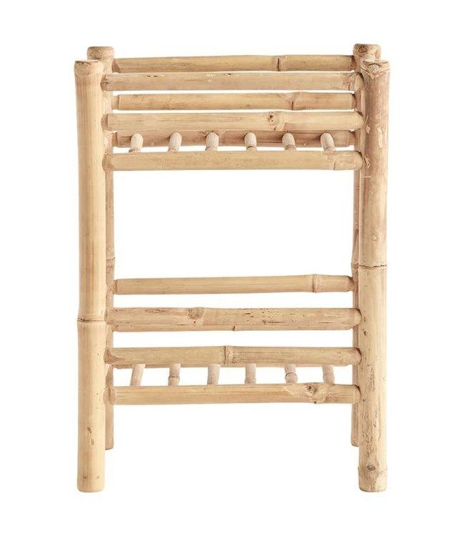 Bamboo rack with 2 shelfs, nature