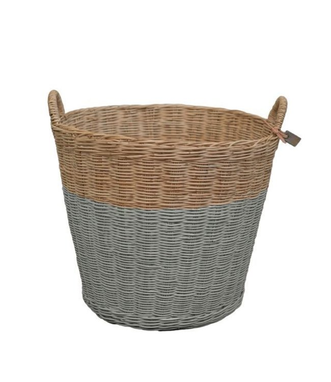 Numero 74 Rattan basket - silver grey