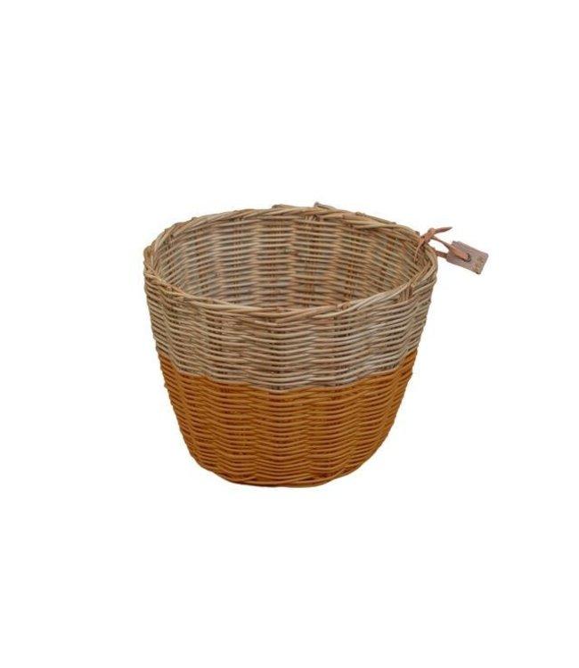 Rattan basket - gold