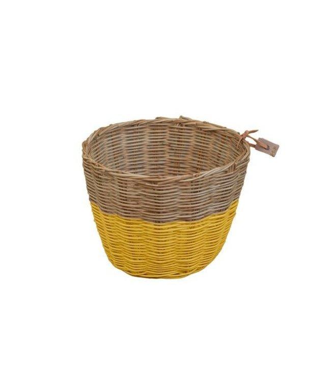 Rattan basket - sunflower yellow