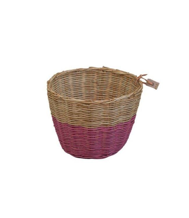 Rattan basket - baobab rose
