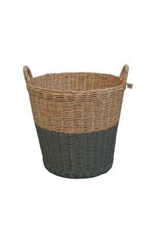 Numero 74 Rattan basket - dark grey
