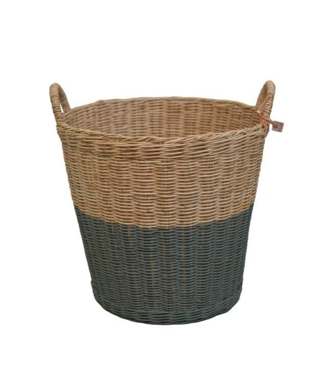 Numero 74 Rattan basket - dark grey