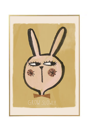 Studio Loco Poster rabbit - grow slowly