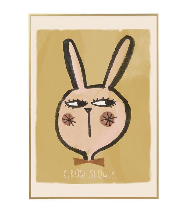 Studio Loco Poster rabbit - grow slowly