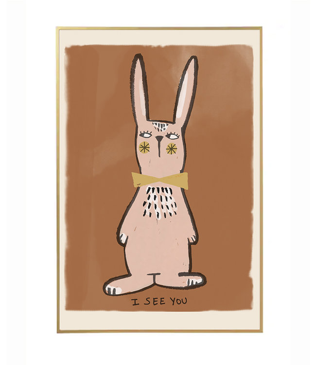 Studio Loco Poster rabbit - I see you