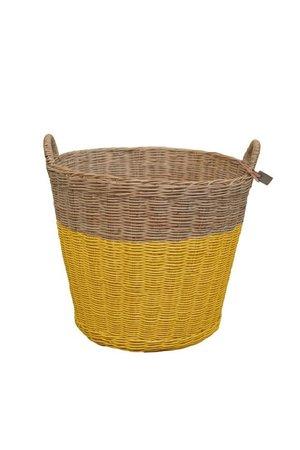 Numero 74 Rattan basket - sunflower yellow