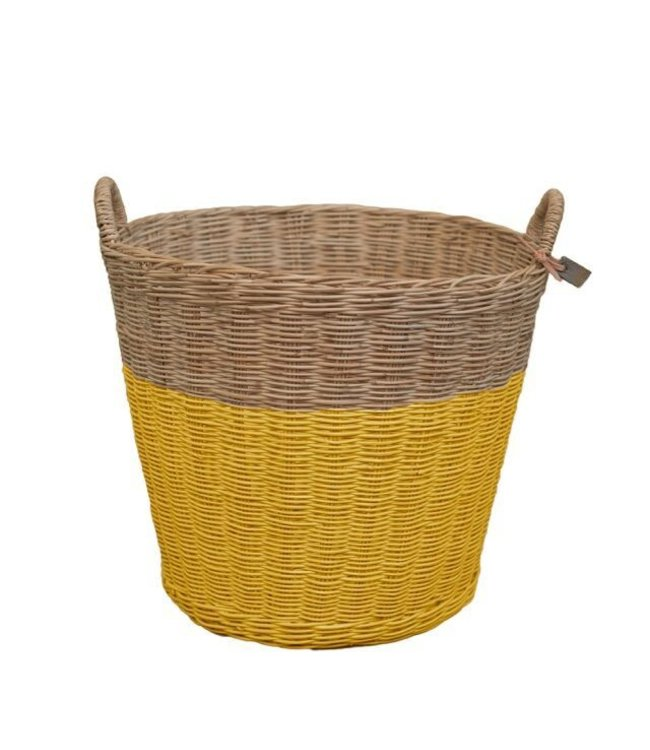 Numero 74 Rattan basket - sunflower yellow