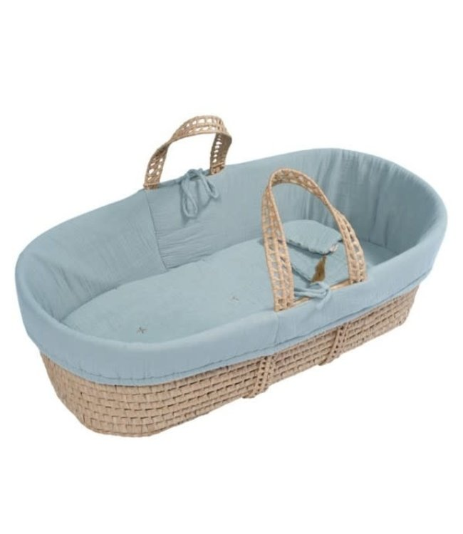 Numero 74 Bed linen for moses basket - sweet blue