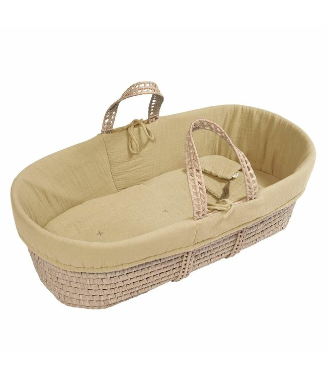 Bed linen for moses basket - yellow mellow