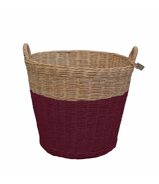 Numero 74 Rattan basket - red macaron