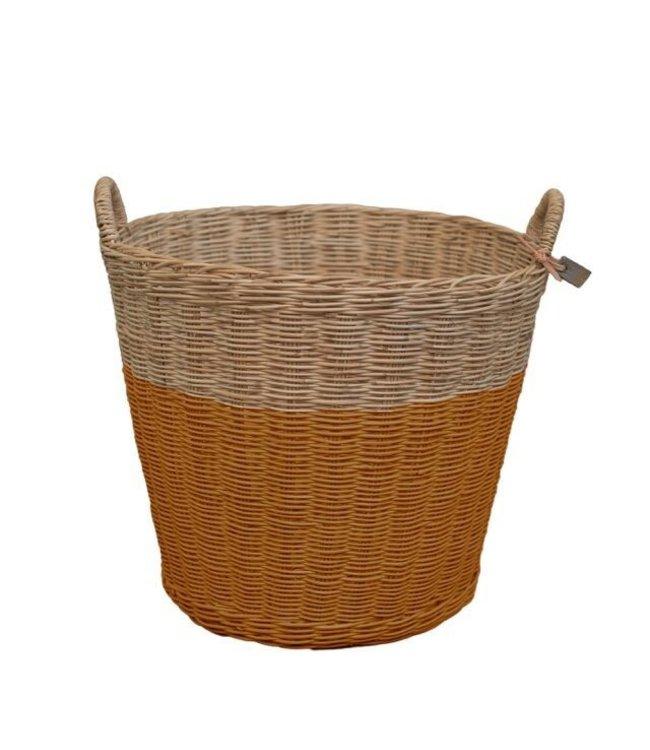 Numero 74 Rattan basket - gold