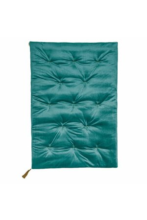 Numero 74 Futon - velvet teal blue