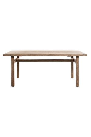 Oude olm tafel met houten poten