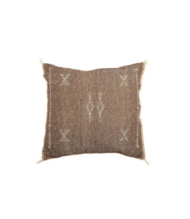 Sabra pillow coffee square