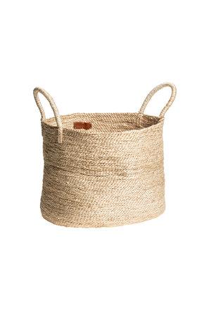 The Dharma Door Large round jute basket - natural