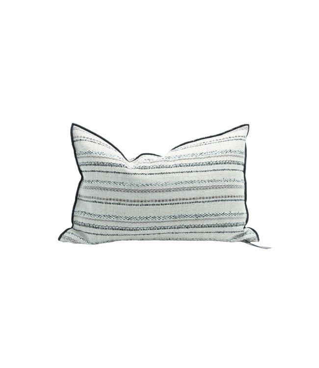 Kussen vice versa black line, canvas bivouac striped - naturel