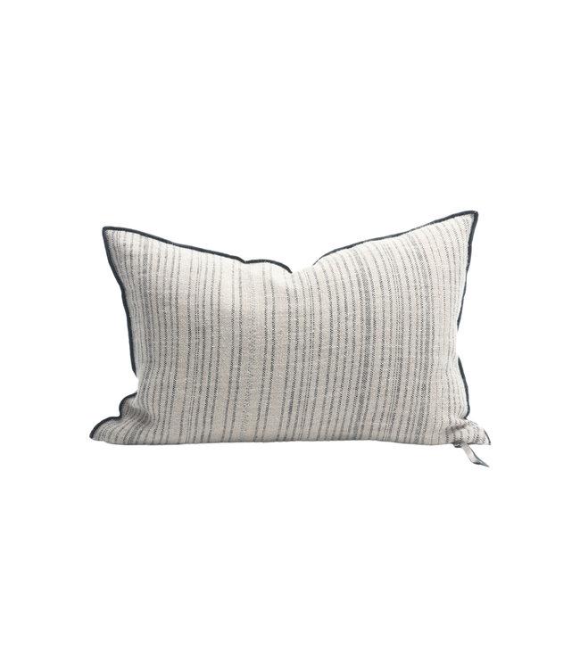Cushion vice versa, canvas rustique byzance 300 - naturel/noir