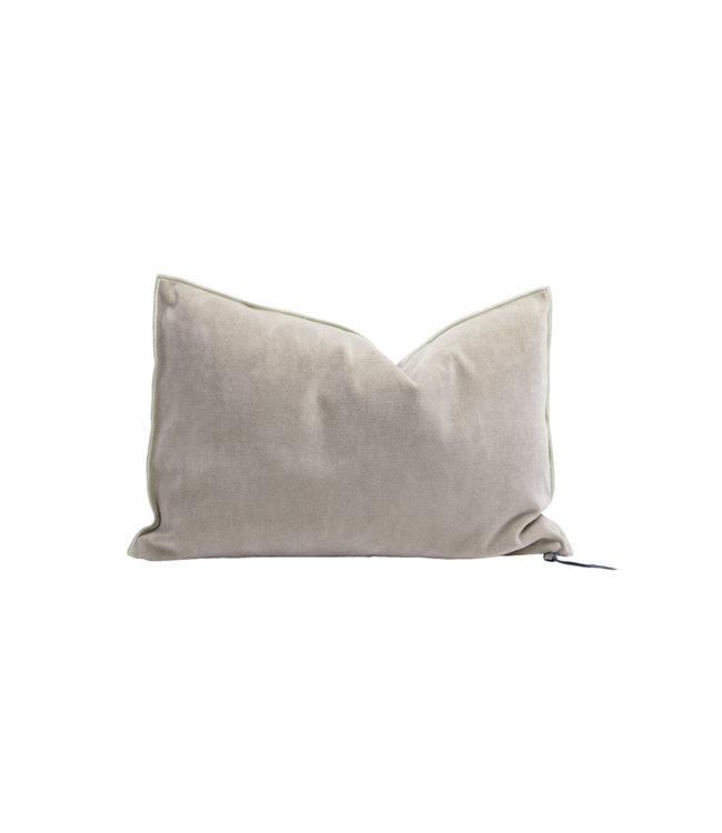 Maison de Vacances Cushion vice versa, vintage velvet - blush