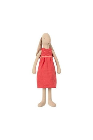 Maileg Bunny size 3, dress - red