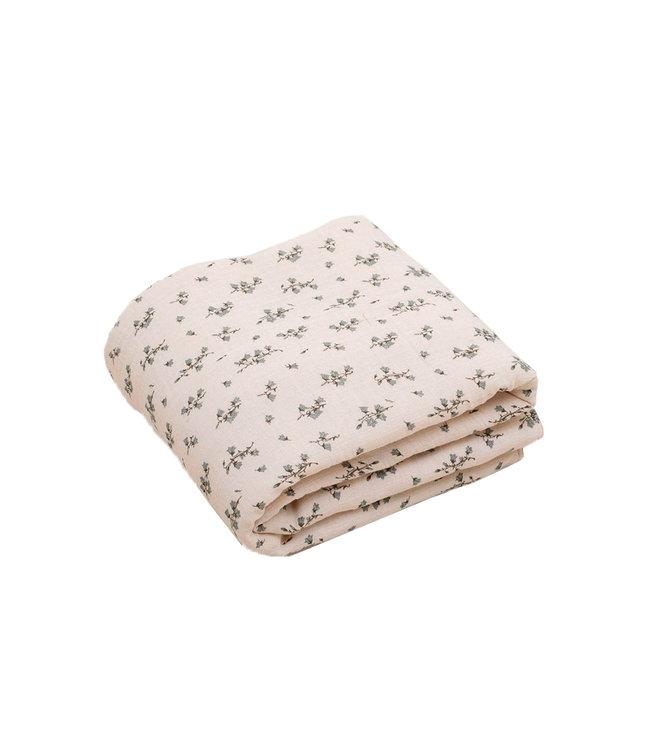 Bluebell filled muslin quilt