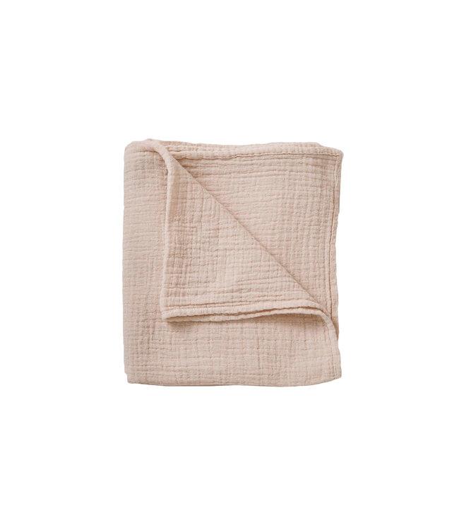 Eggshell muslin swaddle blanket