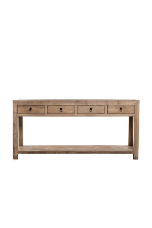 Sidetable with 4 drawers - 180cm