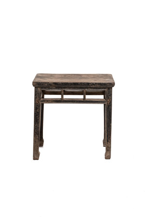 Old patinated side table elm