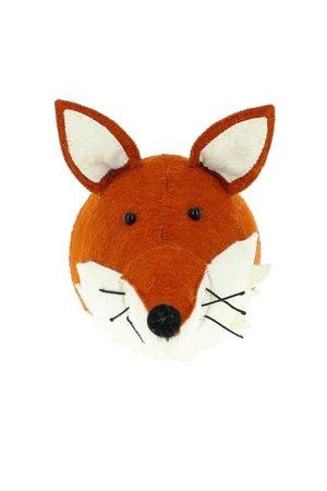 Fiona Walker England Animal head - fox with ruff