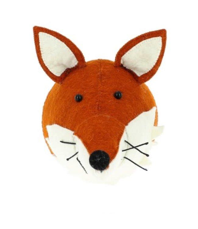 Animal head - fox with ruff