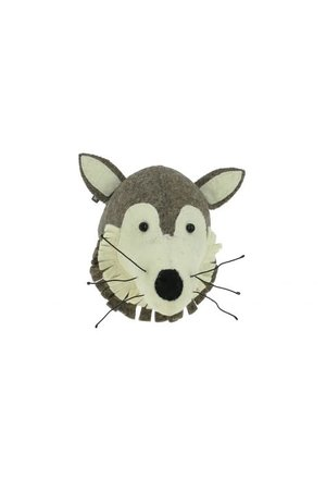 Fiona Walker England Dierenhoofd mini - wolf