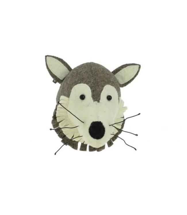 Dierenhoofd mini - wolf
