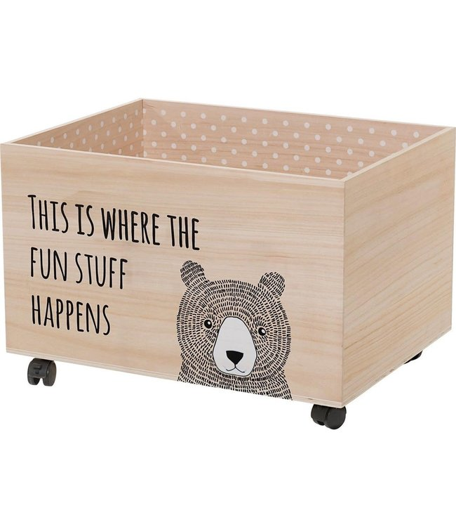 Storage box with wheels L
