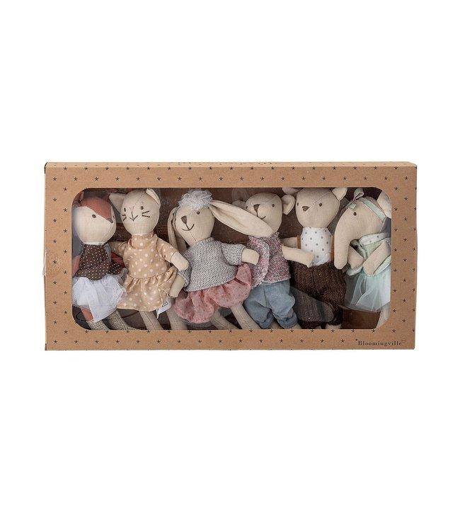 Soft toys, set van 6