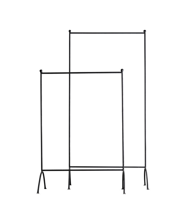Clothes rack in black iron