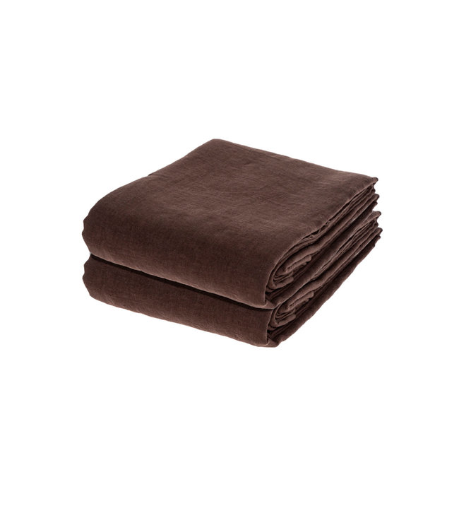 Linge Particulier Duvet cover linen - dark brown