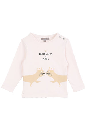 Emile et ida T-shirt bon baisers - ecru