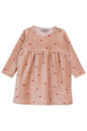 Emile et ida Dress velvet - rosa smack