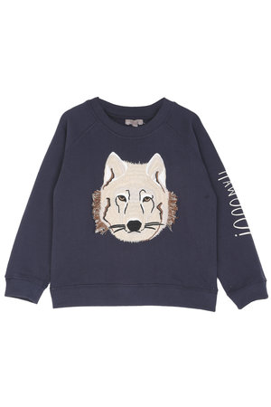 Emile et ida Sweater raglan - bitume loup