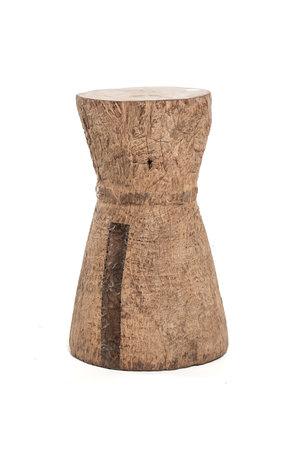 Oude vijzel - kruk Tonga bruin M - #1