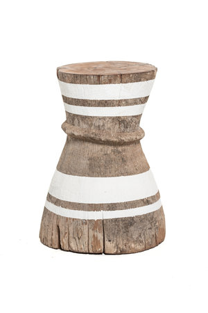 Mortar - stool Tonga stripe white M - #6