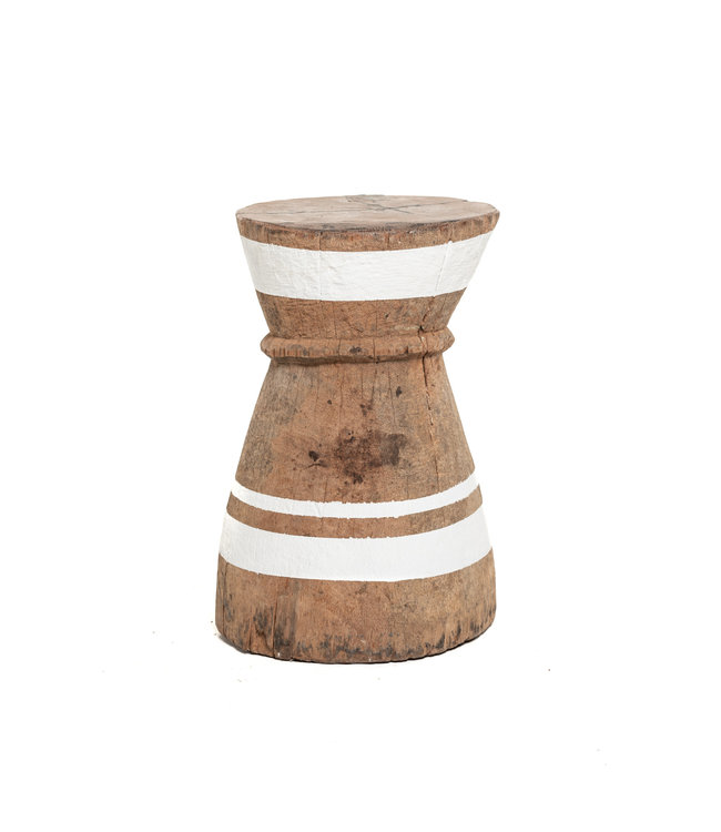 Mortar - stool Tonga stripe white M - #8