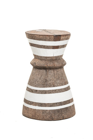 Mortar - stool Tonga stripe white M - #5