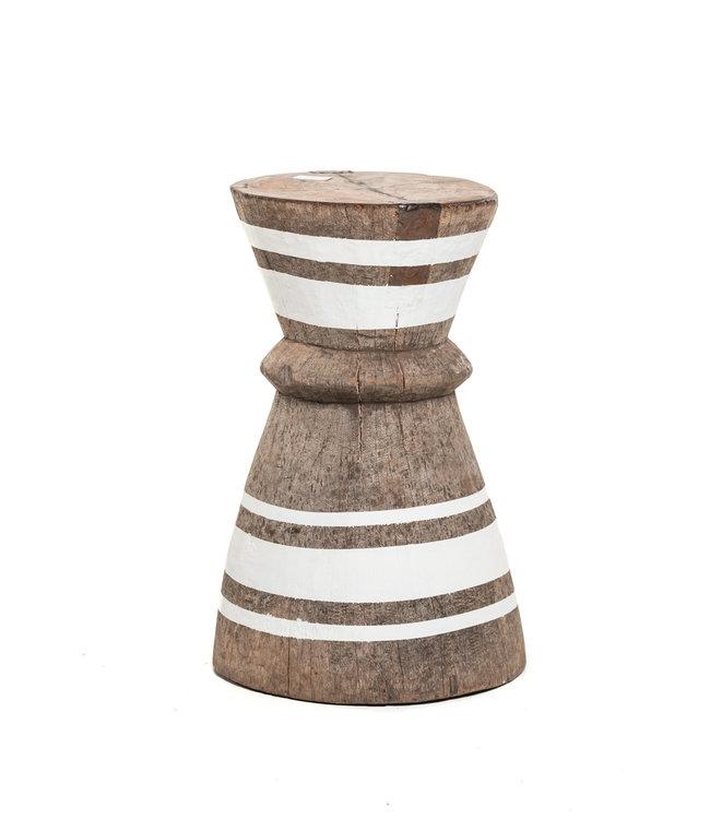 Mortar - stool Tonga stripe white M - #5