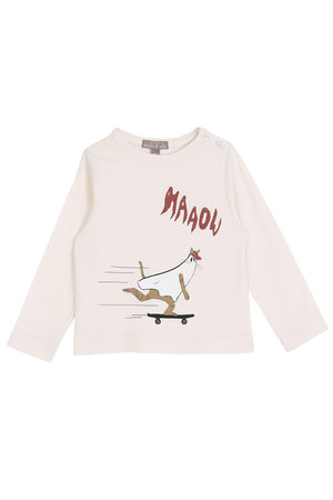 Emile et ida T-shirt chat fantome - ecru