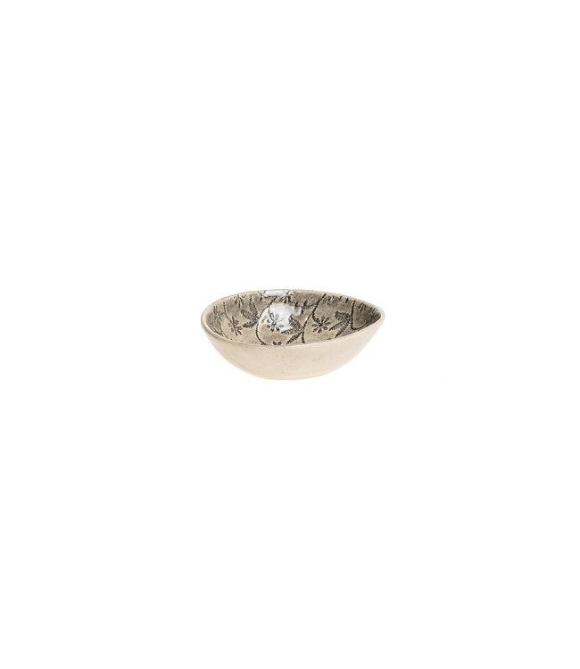 Wonki Ware Salt dish round large - pattern