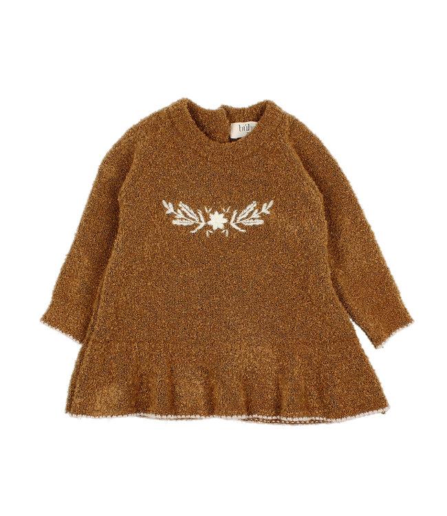 Rose knit dress - nougat